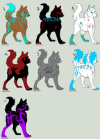 Wolf Adoptables 15 OPEN by BlueFox-Adopt-Agency