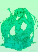 Hatsune Miku - Vocaloid LINES by EddieHolly