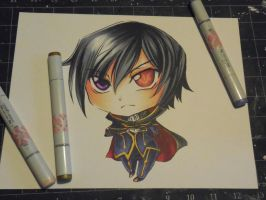 Copic Chibi Lelouch by Mireielle