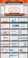 Financial Report PowerPoint Template by C-3PO-upg