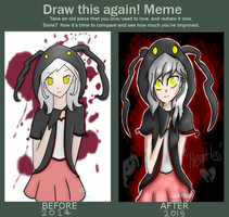 Draw this Again - Heartless Hoodie Girl by TheNightgazer