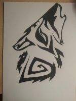 howling wolf by Carlitos-Girl