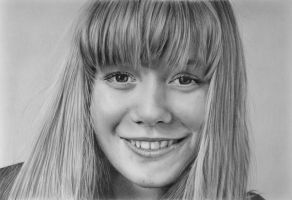 Pencil portrait of Sarah by LateStarter63