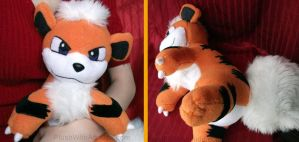 Growlithe plushie 2 by gamef0x