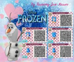 Animal Crossing QR: Olaf from Frozen by Rasberry-Jam-Heaven