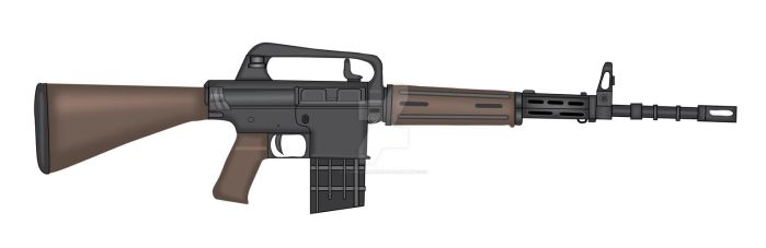 Armalite AR-10 Automatic Rifle by stopsigndrawer81