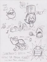 Mario Character Sketches by JamesmanTheRegenold