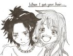 When I get your hair OuO.... by Inuyashafan001