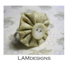 Puff Button Ring by MasonBee