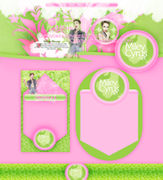 MileyCyrus.net premade by CandyBiebs