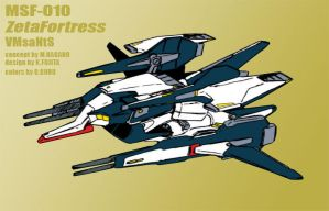 MSF-010 Gundam Hyperzeta (ZetaFortress mode) by Grebo-Guru