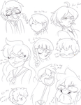 The most attractive sketch dump I've done by MagicalPouchOfMagic