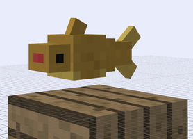 Minecraft Mob Ideas - Puny Shark by RedPanda7