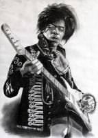 Jimi Hendrix by donchild
