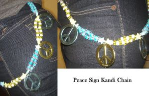 Peace Sign Kandi Chain by anne-t-cats