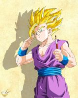 Dragon Ball - Gohan 74 (Teen Gohan artist :D) by songohanart