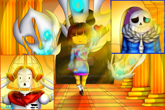 Undertale - FanArt - It's not what you're thinking by Pandelina
