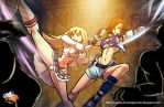 Lili and Asuka's Street Brawl by a-bad-idea