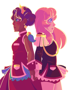utena and anthy by Simpelen