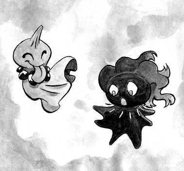 Cheeky ghosts by Xiphosuras