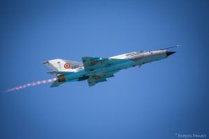 MIG-21 with afterburner by Dragos06