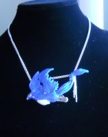 Handmade Clay Articuno Necklace by ChibiSayuriEtsy