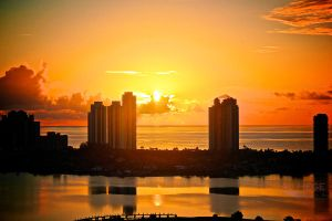 Miami Sunrise II by AJHege
