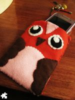 Owl phone pouch by shimauuuma