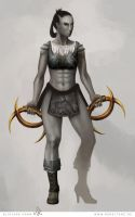 Orc Fighter, Lineage II by julianehahn