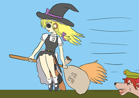 Marisa the Thieving Raccoon by Xysash
