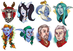 [commission] 62015 - headshot sale batch 5 by SirMeo