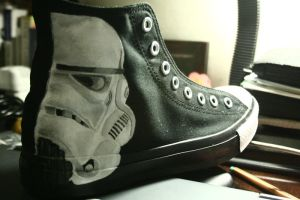 Storm Trooper Chucks by batongbato