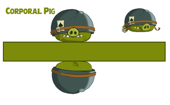 Corporal Pig Toons Template by bluejay5678