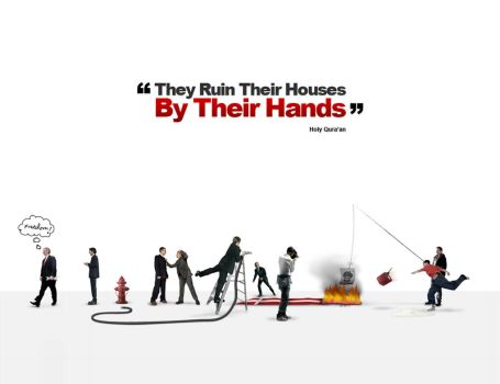 They Ruin Their Houses by Mr-Graphic