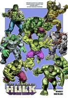 Hulk Collage by Simon-Williams-Art