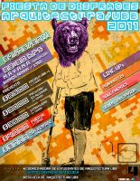 Afiche Fiesta UBB 2011 by half-brain-monkey