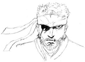 MGS3 Big boss portrait by desmondlogan