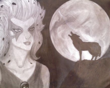 howling at the moon by j00lien