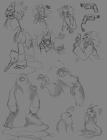 character sketches by Uvrenaux