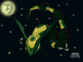 Rayquaza at night by dark-tyr-3