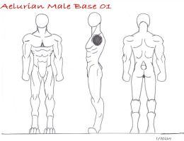 Aelurian Male Template 01 by SpudYeisleyCreations