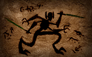 General Grievous Cave Drawing by ThrowDownYourHat