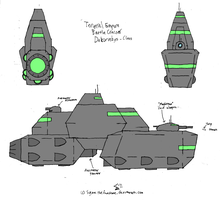 Hunter - Dekorvekys-Class Battle Cruiser by SigmatheArtist