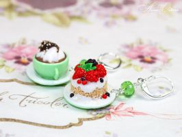 Earrings with dessert by OrionaJewelry