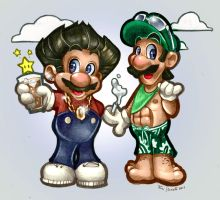 JERSEY SHORE VS SUPER MARIO BR by telegrafixs
