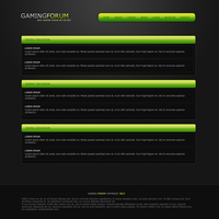 Simple Gaming Forum template by Kinetic9074