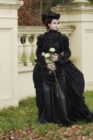 Stock - Gothic woman with roses 3 by S-T-A-R-gazer