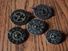 Steampunk pins by Hiddendemon-666