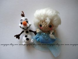 Elsa and Olaf Amigurumi by AnyaZoe