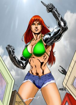 Cyber Giantess by Jean Sinclair ICB Darcsyde by Giantess-Cassie
